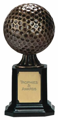 champion golf ball trophy a075  £7.99