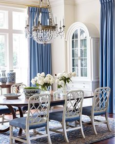"""643 Likes, 6 Comments - The Pink Pagoda (@thepinkpagoda) on Instagram: """"@suzannekasler gorgeous dining room in the new @housebeautiful July/August issue with @hickorychair…"""""""