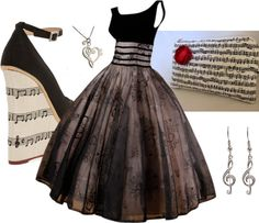 Music shoes, clutch and accessories