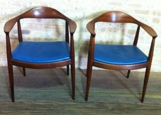 Hans Wegner style armchairs—contemporary copies, actually—from Chicago Craigslist at $695 the pair