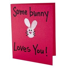 Some Bunny Loves You!  What a great Valentine card