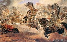 September The massive charge of the Polish winged lancer-hussars that terrified the Ottoman troops and decided the Battle of Vienna. The wings made a terrifying sound as the Polish hussars came charging down the mountainside. Military Art, Military History, Battle Of Vienna, Friedrich Ii, We Are The Mighty, In Loco, Landsknecht, Medieval, Fiction