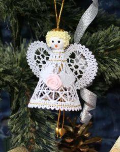 Advanced Embroidery Designs - FSL Battenberg 3D Lace Angel Ornament