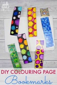 DIY Colouring Page Bookmarks Make your own Bookmarks with these adorable DIY colouring page bookmarks free printable. This unisex free download is perfect for kids of all ages.