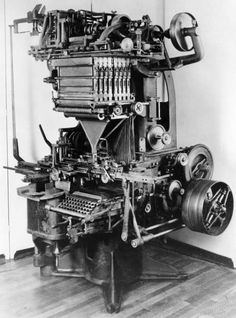 Extraordinary early typesetting machines #letterpress #type #typography