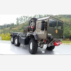 New Arrival! Full Metal 6*6 Simulation 1/10 Scaled RC Military Truck 6WD Electronic RC Toy Rock Crawler for Sale