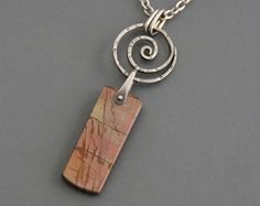 Toggle Necklace with Kambaba Jasper by MaggieJJewelry on Etsy