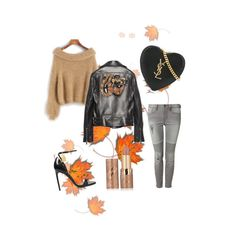 """""""Autum look #tomfordsandals #ysl #totallook"""" by sandra-gonz on Polyvore featuring Tom Ford, Yves Saint Laurent, Gucci, Devoted y tarte"""