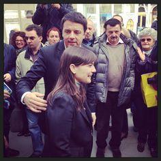 Renzi s Serracchiani. 10 aprile, Trieste.