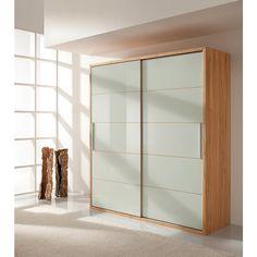 Trend Der Design Kleiderschrank Buche massiv mit flexibler Innenausstattung vereint edles Naturholz mit Glas und wirkt so leicht und modern