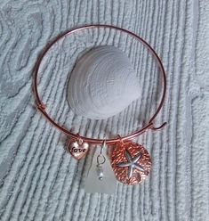 Rose gold sea glass bangle - Sea glass Jewelry Valentines day gifts for her. Glass Earrings, Sea Glass Jewelry, Stud Earrings, Valentines Day Gifts For Her, Valentines Jewelry, Love Bracelets, Bangles, White Sea, Organza Gift Bags