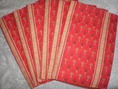 Red Yellow  Place Mats Set of Six Handmade Wedding by Love2quilt #ALEXPALS @ALEXGRN65