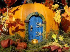 Blue Fairy Door by HiddenWorlds on Etsy