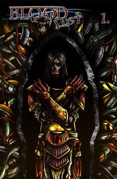 Bloodlust 1 cover by BloodlustComics on DeviantArt Comic Book Covers, Comic Books, Fantasy Comics, Cyberpunk, Darth Vader, Deviantart, Fictional Characters, Cartoons, Comics