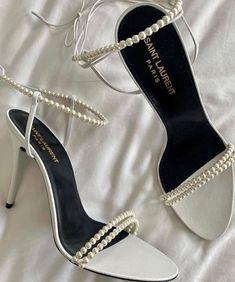 Dr Shoes, Me Too Shoes, Shoes Sneakers, Tennis Sneakers, Ysl Heels, High Heels, High Heel Boots, Pearl Shoes, Yves Saint Laurent