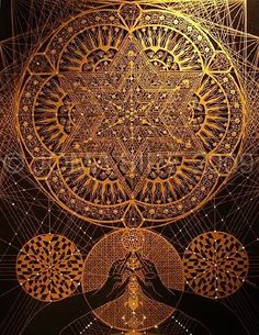 Beautiful mandala example: The Flower of Life is one of the most sacred of geometric symbols. It is a geometrical shape composed of multiple evenly-spaced, overlapping circles arranged in a flower like pattern with six fold symmetry like a hexagon.