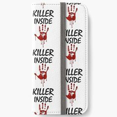 'Killer Inside - Bloody Imprint' iPhone Wallet by RIVEofficial Iphone Wallet, Custom Design, Finding Yourself, Phone Cases, Trends, Accessories, Shopping, Art, Style