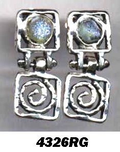 Roman glass #artistic #earrings #bluenoemi 99 USD  http://www.bluenoemi-jewelry.com/roman-glass-artistic-earrings.html