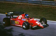 Patrick Daniel Tambay (FRA) (Scuderia Ferrari), Ferrari 126C3 V6, #27, (RET-spun off)European Grand Prix, Brands Hatch, 1983.