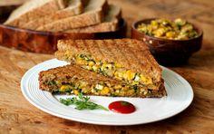 Paneer, Corn & Spinach Grilled Sandwich