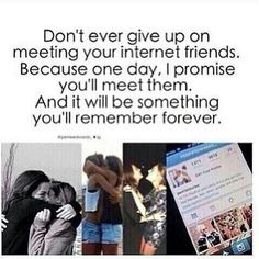 Internet Friends Are The Bestest✌️ I will! I hope to all my lovely internet friends❤️ I was watching a video of tumblr best friends meeting and omg I cried. It was so cute. Lol love you all.