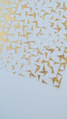 Al sol de los limones. Dorado. Pan de oro sobre papel Aquarelle Arches de Canson. 15 x 15 cm. 2012.