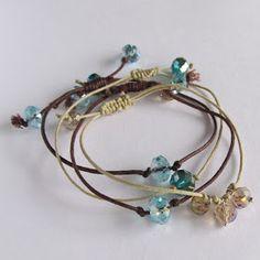Wobisobi: Crystal, Bead Bracelet, DIY