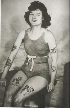 Tattoed woman