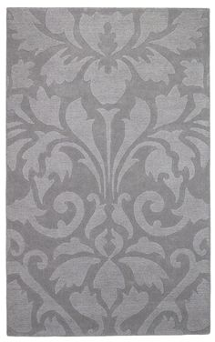 City Trends Silver Grey damask area rug
