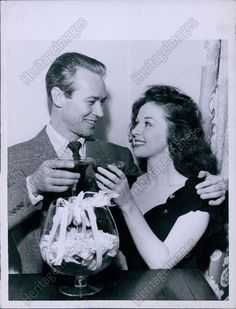 Susan Hayward and husband Jess Barker at the Hollywood Canteen