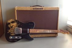 1952 tele with some ugly woman's face on it !!!$50,000.oo