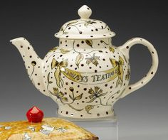 Emma Bridgewater  'Always Teatime' a Four Cup Teapot, painted by Matthew Rice, 2007
