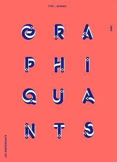 ©les graphiquants - Athenes Type - #types #font #graphic #design #gif #unquotedsheets