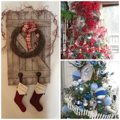 barn wood christmas | christmas wreathe on barnwood gate | Xmas
