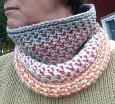 Mmatildas virkstad: Erna cowl - free crochet pattern and tutorial. Free Crochet, Knit Crochet, Chrochet, Bra Hacks, Crochet Scarves, Shawls And Wraps, Crochet Projects, Free Pattern, Blogg