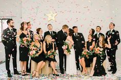 Charming + Chic French-Inspired Wedding at a Downtown Toronto Café - Green Wedding Shoes Green Wedding Shoes, Wedding Colors, Wedding Black, Wedding Gold, Wedding Portraits, Wedding Photos, Summer Wedding, Dream Wedding, Bridal Party Poses