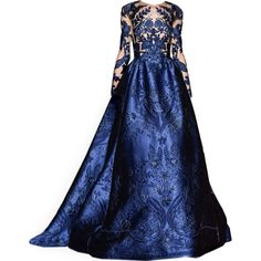 satinee.polyvore.com - Zuhair Murad Couture 2017 featuring polyvore women's fashion clothing gowns dresses