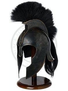 Own a replica Greek Helmet Warrior Helmet, Helmet Armor, Arm Armor, Body Armor, Ancient Armor, Medieval Armor, Medieval Fantasy, Armadura Medieval, Greek Helmet