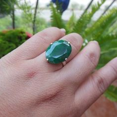 Buy Precious emerald solitaire ring - May birthstone jewelry gift for her by aStudio1980 Online at aStudio1980.com. Enjoy FREE shipping now. 100% handcrafted and original.