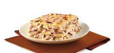 lasagne funghi e prosciutto