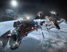 Drake Interplanetary Cutlass Red Search & Rescue Vessel, Cutlass Blue Patrol and Prisoner Transport
