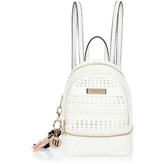 River Island White laser cut backpack ($52) ❤ liked on Polyvore featuring bags, backpacks, backpack, white, accessories, bolsas, bags / purses, women, backpack bags and zip handle bags