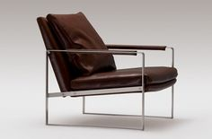 Leman Leather Lounge Chair - Camerich Industrial revolution