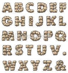 Herunterladen - Stein alphabet — Stockbild #3071091