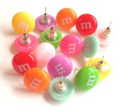 Candy Earrings studs available in 8 colors. Great by ThomiGirlPink, $6.00