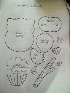 Aplique Buho con Cupcakes - Manualidades en Goma Eva                                                                                                                                                                                 Más