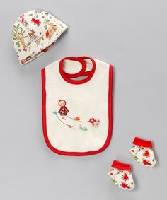 Take a look at this Little Red Riding Hood Beanie Set by Albetta on #zulily today!
