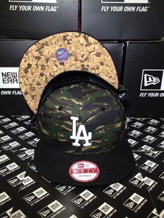 Los Angeles Dodgers MLB Tiger Camo Underbrim Cork New Era 9FIFTY Snapback  Small Medium   7cf35a736741