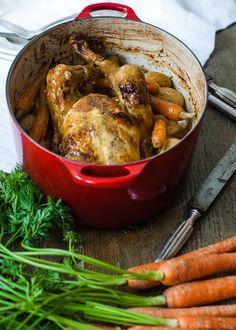 Pollo en cocotte con vino blanco by Loleta.es