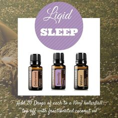 Liquid Sleep: Put this in a rollerball with fractionated coconut oil or put in a spraybottle for a relaxing pillow spray!! #doTERRA #essentialoils #sleep